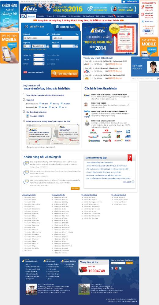Thiết kế web bán vé máy bay giá rẻ