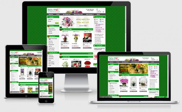Thiết kế web bán hoa tươi, điện hoa giá rẻ