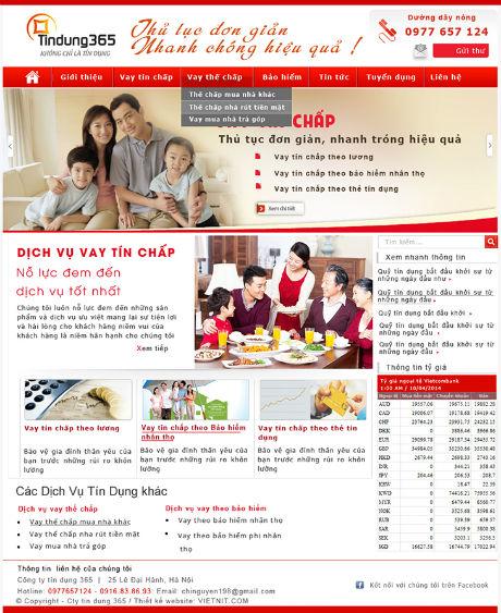 Thiết kế web ngân hàng giá rẻ