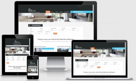Thiết kế web bất động sản - nhà đất