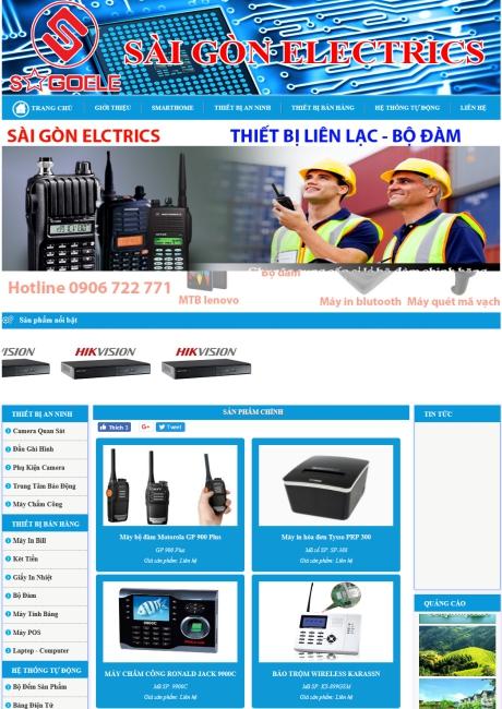 Thiết kế web công ty cung cấp sản phẩm điện - điện tử