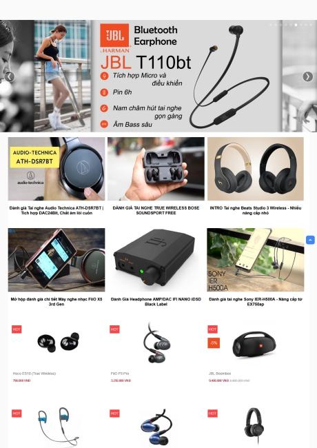 Thiết kế web bán tai nghe chuyên nghiệp
