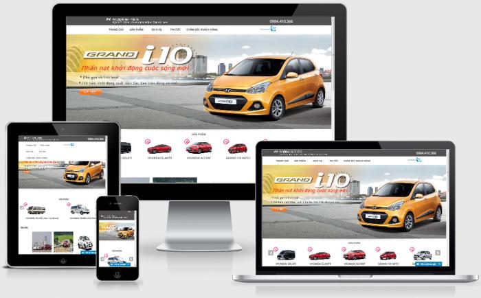 Thiết kế web bán ô tô - giới thiệu sản phẩm