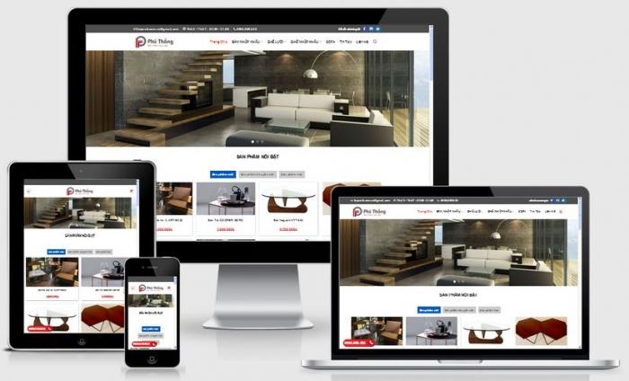 Thiết kế website bán hàng nội thất giao diện đẹp