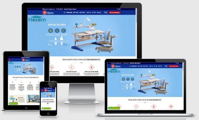 Thiết kế website bán bàn ghế học tập