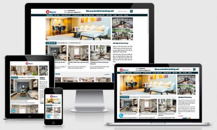 Thiết kế website tư vấn thiết kế nội thất uy tín