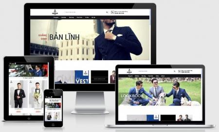 Website bán hàng thời trang nam