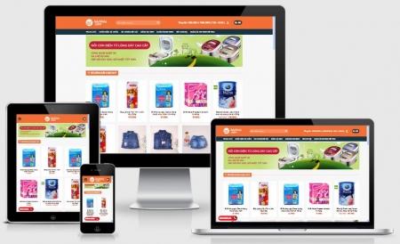 Website bách hóa online đẹp
