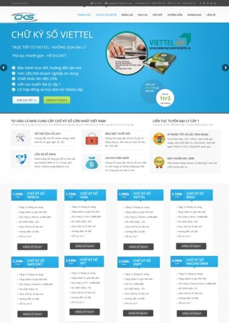 Thiết kế web dịch vụ chữ kí số
