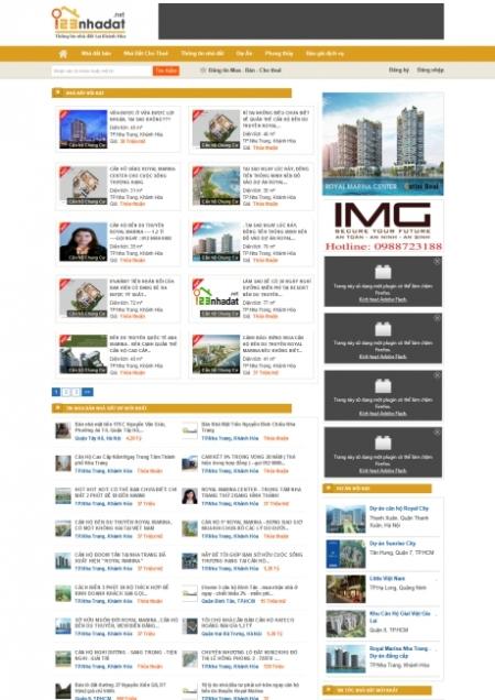 Thiết kế web tin tức nhà đất - bất động sản