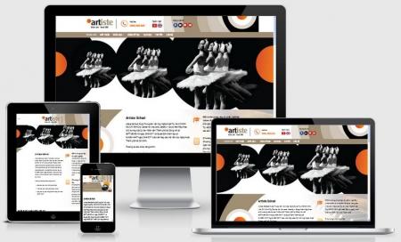 Website trường dạy nghệ thuật
