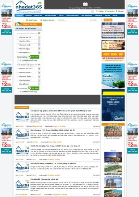 Thiết kế web đăng bài giao bán bất động sản