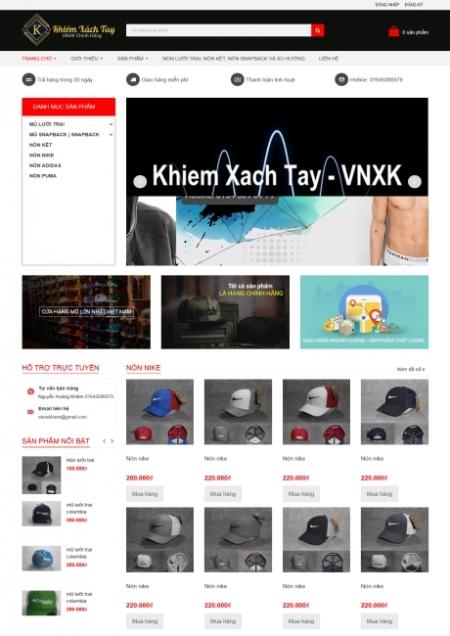 Thiết kế web bán hàng - quảng bá sản phẩm