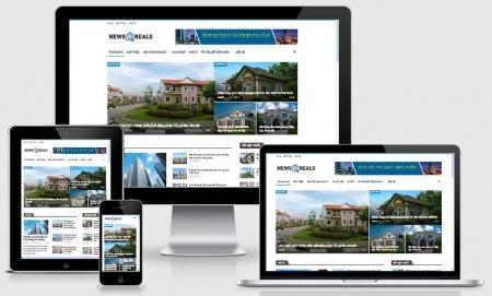Website tin tức bất  động sản
