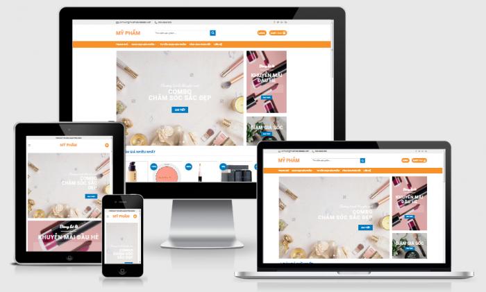 Thiết kế website bán mỹ phẩm chuẩn seo