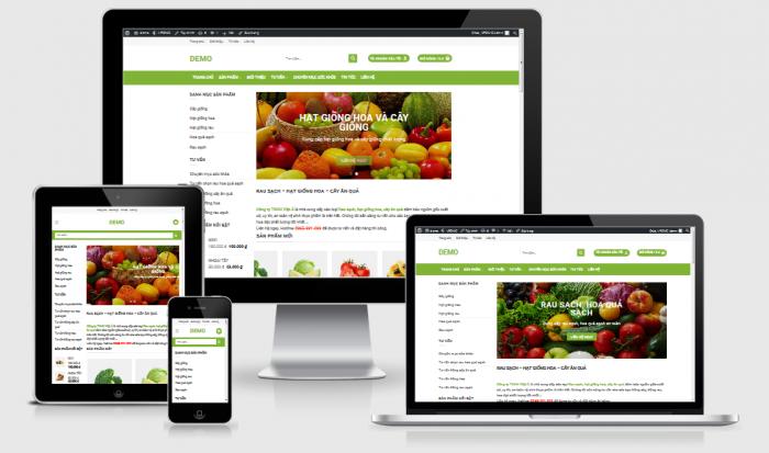 Thiết kế web bán cây giống