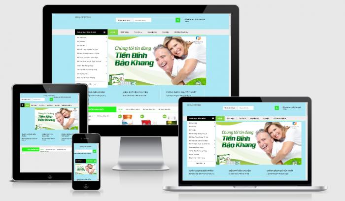 Thiết kế mẫu website bán thuốc chuẩn SEO