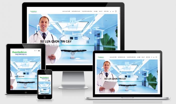 Thiết kế web bán thuốc uy tín
