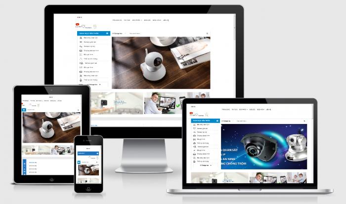 Thiết kế web bán camera trọn gói uy tín