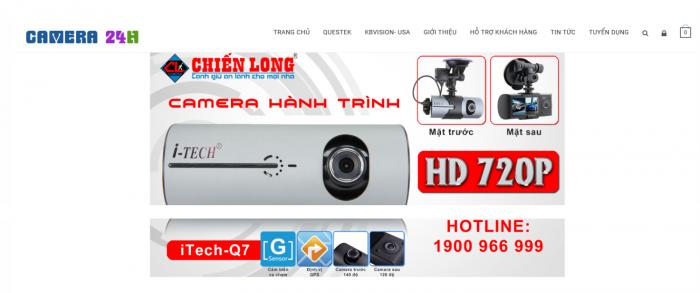 Thiết kế web bán camera load nhanh