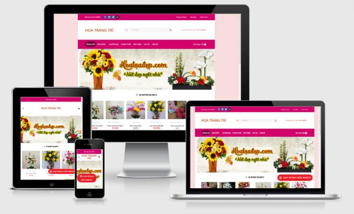 Thiết kế web bán hoa trang trí