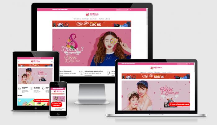 Thiết kế website mẫu bán phụ kiện thời trang