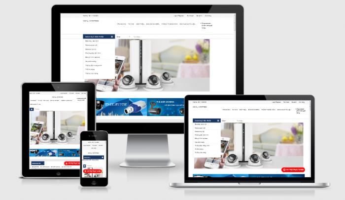Thiết kế website camera chuyên nghiệp