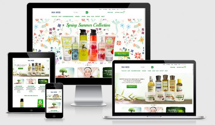 Thiết kế website bán mỹ phẩm giá tốt