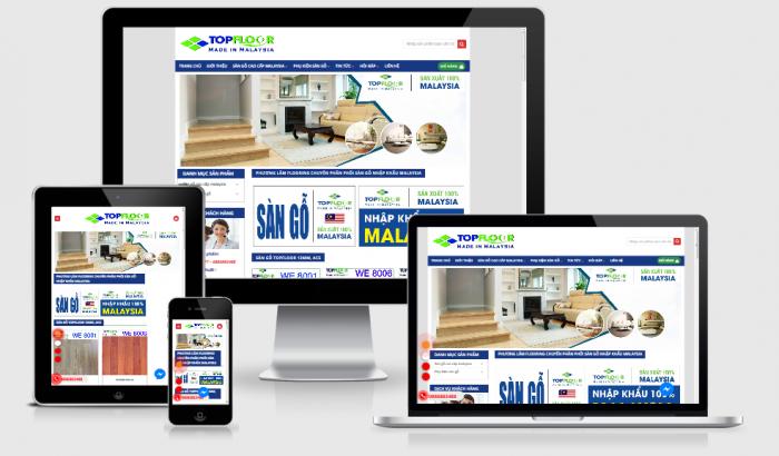 Thiết kế website bán sàn gỗ đẹp