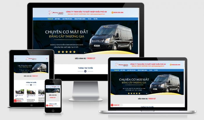 Thiết kế website cho thuê xe ô tô giá tốt