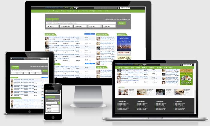 Thiết kế website bất động sản rao vặt chuyên nghiệp chuẩn seo