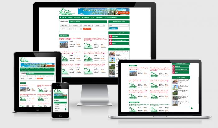 Thiết kế website bất động sản rao vặt đẹp