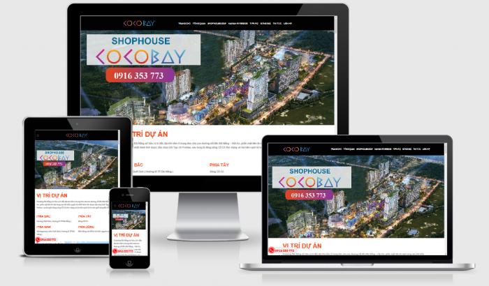 Thiết kế website bất động sản dự án uy tín