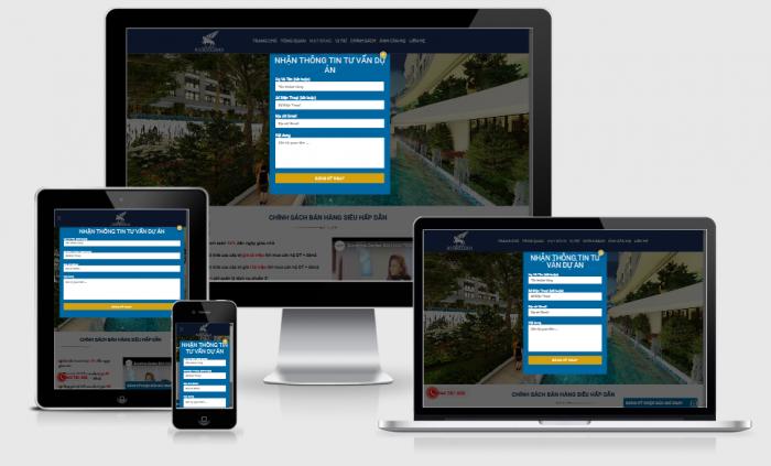 Thiết kế website bất động sản dự án chuyên nghiệp