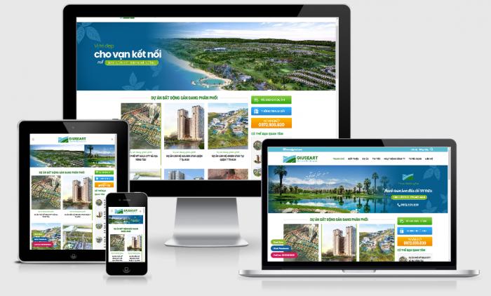 Thiết kế website bất động sản rao vặt giá rẻ