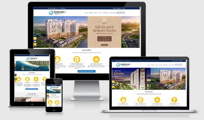 Thiết kế website dự án bất động sản giá tốt chuẩn seo