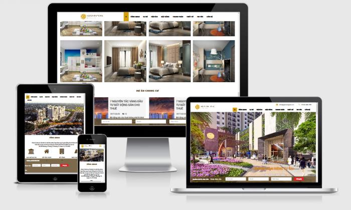 Thiết kế website dự án bất động sản giá tốt