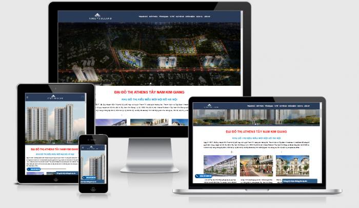 Thiết kế website bất động sản chuẩn SEO