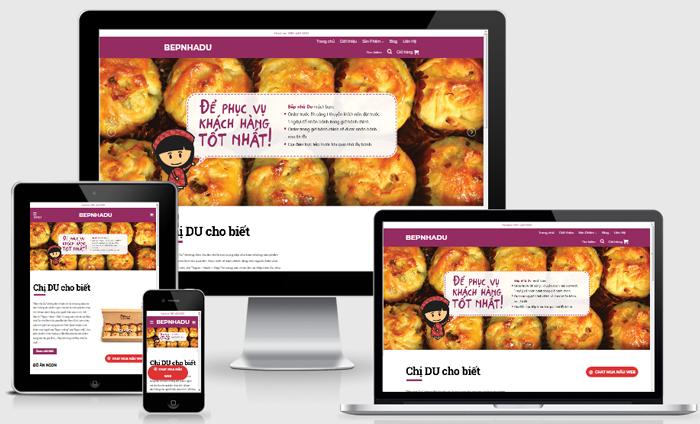 Thiết kế website cửa hàng đồ ăn nhanh