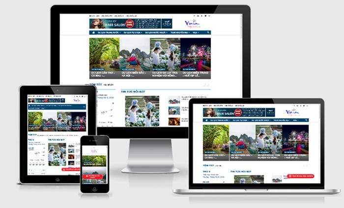 Thiết kế website giới thiệu công ty du lịch