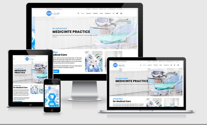 Website dịch vụ bệnh viện, phòng khám
